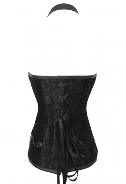 Steampunk black Corset