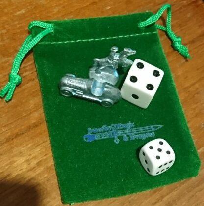 Velvet Green Dice Bag