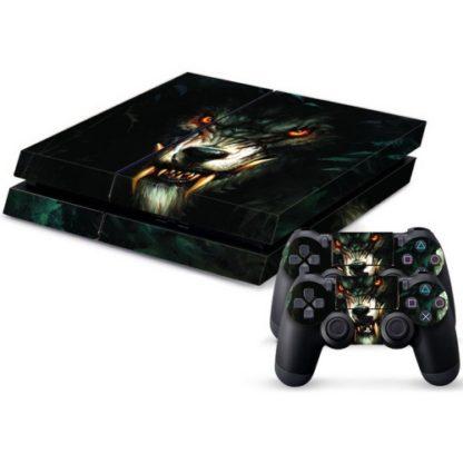 Playstation 4 wrap dark wolf