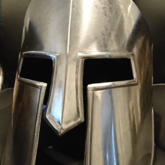 Spartan Style Silver Helm