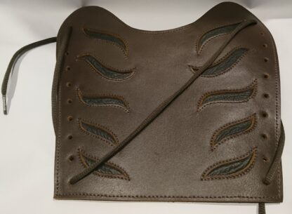 Brown Leather Fire Bracers