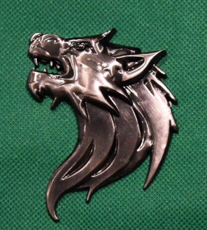Wolf's head car sticker