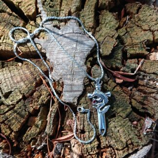 Sword and Wolf Necklace