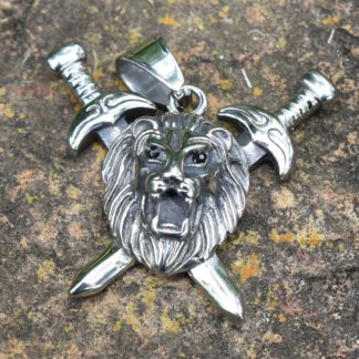 Lion with Swords Necklace