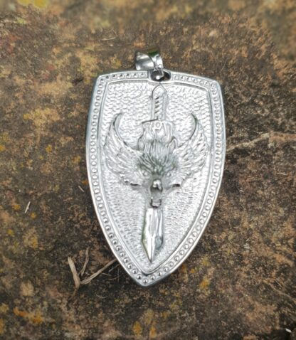 Were Wolf Shield Pendant