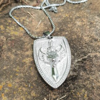 Were Wolf Shield Necklace