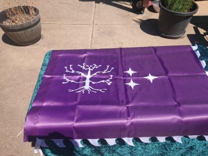 Large Purple war banner