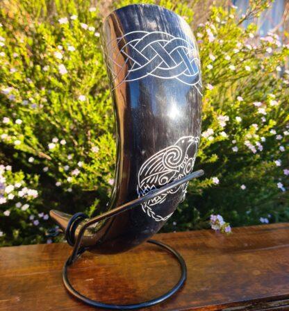 Black Raven Drinking Horn