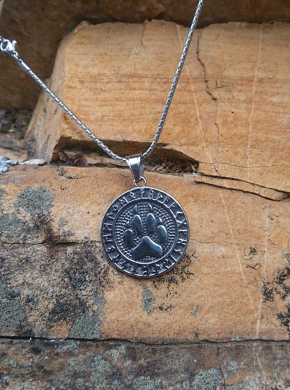 Viking Wolf Paw Necklace