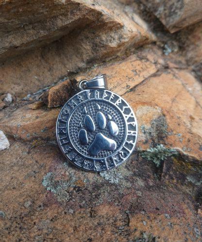Viking Wolf Paw Pendant