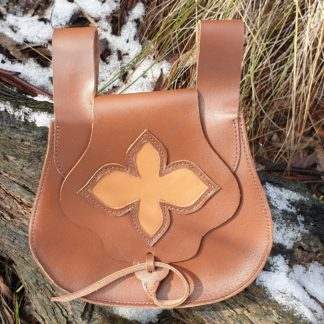 leather Flower Bag