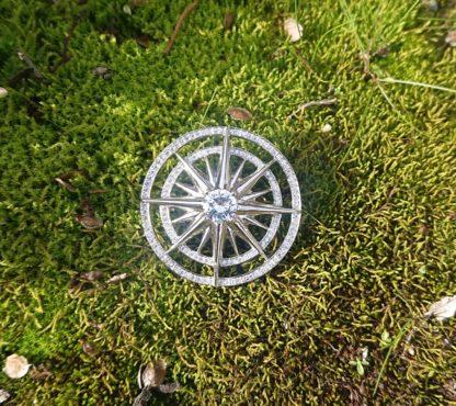 Compass Broach