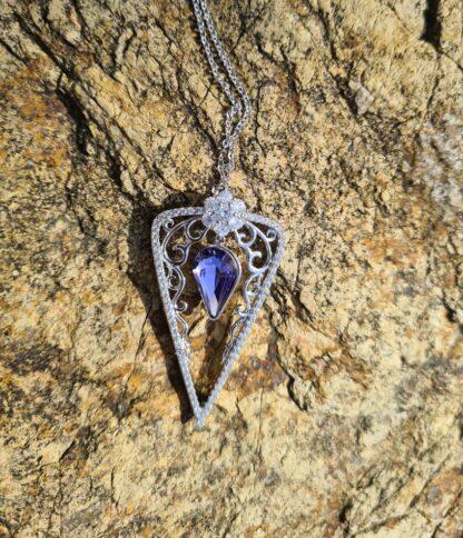 Purple Triangle Necklace