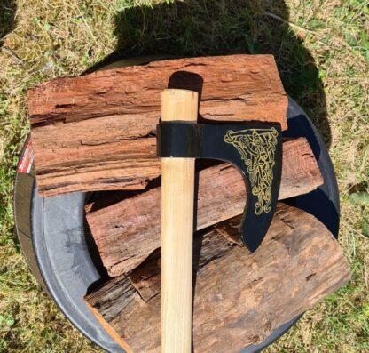 Black Viking axe