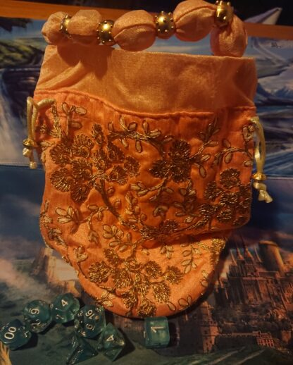 Peach Dice bag