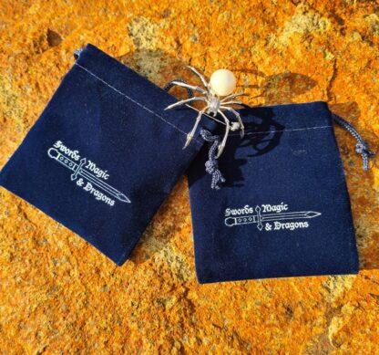Velvet Blue Dice Bag
