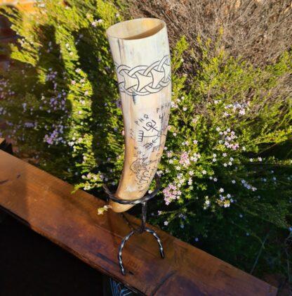 Viking Compass Drinking Horn