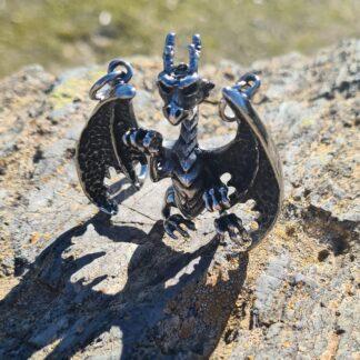 Clawing Dragon Pendant