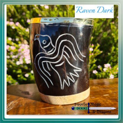 Raven Carved Drinking Tumbler