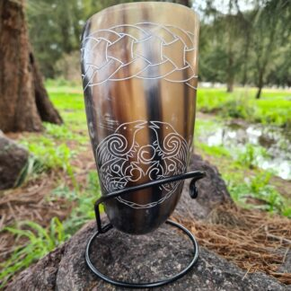 Twin Raven Drinking horn