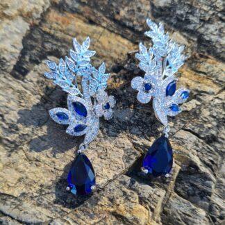 Elven Blue Floral earrings