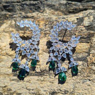 Green Wreath Earrings