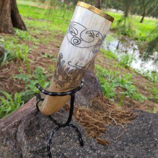 Metal rimmed bird horn