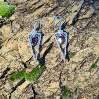 Purple Royal earrings